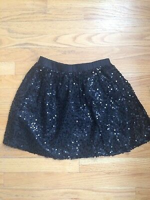 Candies Black Skirt With Sparkly Sequins,  Girls size L (14)