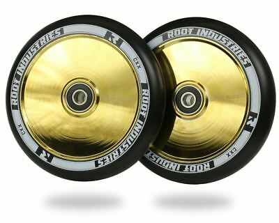 Root Industries Air 120Mm Scooter Wheels | Black / Gold Rush
