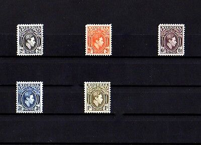 Nigeria - 1938 / 41 - King George Vi - Profile - 5 X Mint - Mnh Singles!