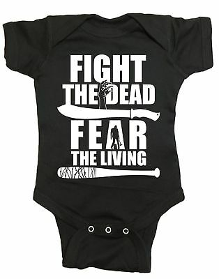 Fight The Dead Fear The Living Walking Dead Infant Baby One Piece
