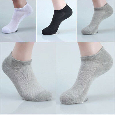 1/5 Pair New Men's Ankle Invisible Casual Sport Cotton Socks Low Cut Socks EA