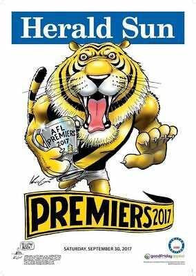 Richmond Tigers 388/1000 2017 Afl Limited Edition Premiership Poster