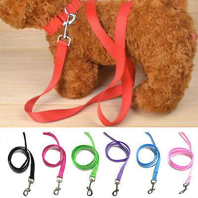 120cm Strong Nylon Dog Pet Lead Leash with Clip for Collar Harness 5 Colours