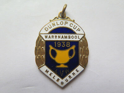 CYCLING DUNLOP CUP WARRNAMBOOL to MELBOURNE ROAD RACE MEDAL WON by L GRAHAM