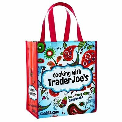 4 Cooking with Trader Joe's Reusable 6 Gal Shopping Grocery Tote Bags