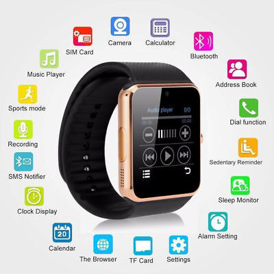 Nuevo modelo GT08 Bluetooth Smart Watch Fitness reloj de pulsera para iOS Samsun