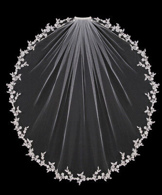 White Ivory Elbow Wedding Veils 1 Tier Bridal Accessories Bride Length Comb 2018