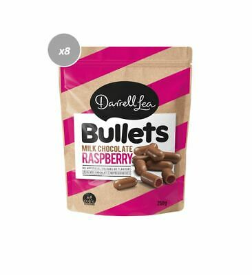 902383 10 x 200g BAGS OF DARRELL LEA RASPBERRY MILK CHOCOLATE BULLETS! AUS