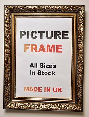 ANTIQUE GOLD ORNATE Picture Frame, All Sizes | Photo Picture Frames ...