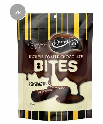 901237 10 x 200g BAGS OF DARRELL LEA DOUBLE COATED CHOCOLATE LICORICE BITES! AUS