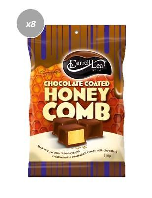 901905 8 x 120g BAGS OF DARRELL LEA MILK CHOCOLATE COATED HONEYCOMB