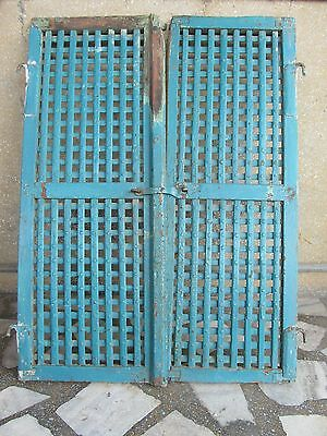 Original Indian Antique Hand Made Wooden Temple Ala  Window Rich Patina