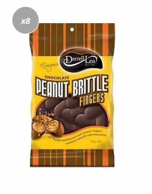901909 10 x 135g BAGS OF DARRELL LEA MILK CHOCOLATE PEANUT BRITTLE FINGERS
