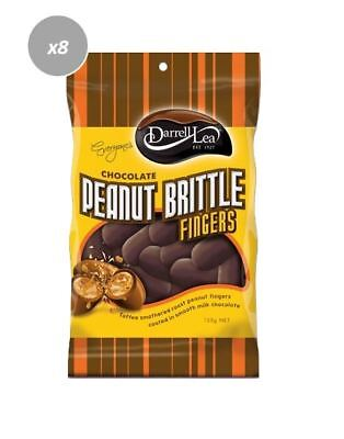 901909 8 x 135g BAGS OF DARRELL LEA MILK CHOCOLATE PEANUT BRITTLE FINGERS