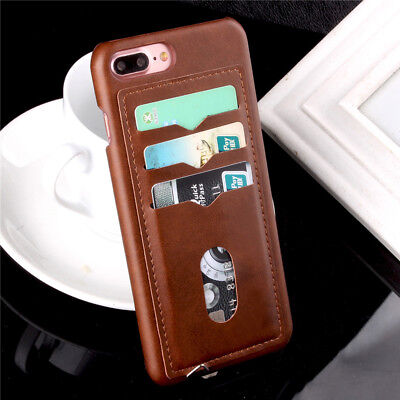 Luxury Leather Case Card Holder Back Skin Cover For iPhone XS Max XR 8 6S 7 Plus