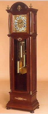 Bronze Spanish Grandfather Clock Mahogany Wood Antique with Brass Finish 813 New