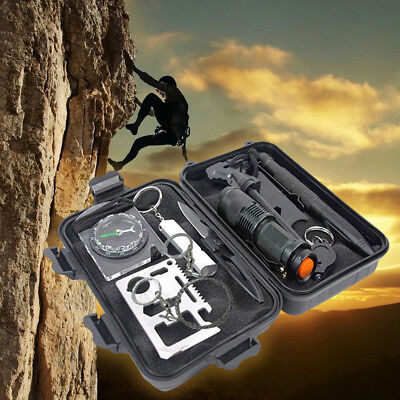7/8/9/10pcs Set SOS Survival Emergency First Aid Kit Hiking Camping Rescue