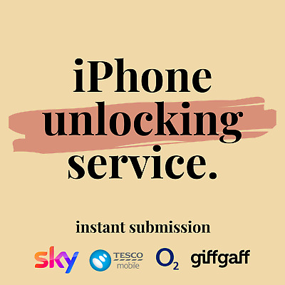 Unlocking Service iPhone 7 7+ 8 X 11 Pro Plus O2 Tesco Giffgaff UK Unlock Code