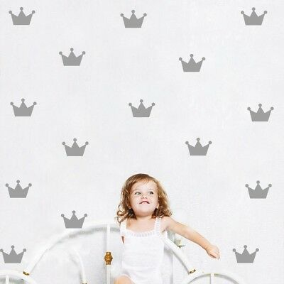 Princess Crown Wall Sticker Pack Nursery Wall Decal Girls Bedroom Home Decor