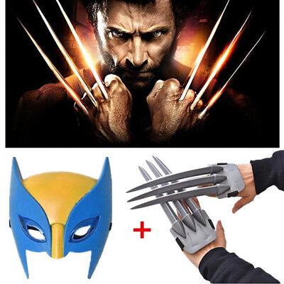 Wolverine Plastic Toys Wolverine Claws & Mask Christmas Cosplay Props Gift