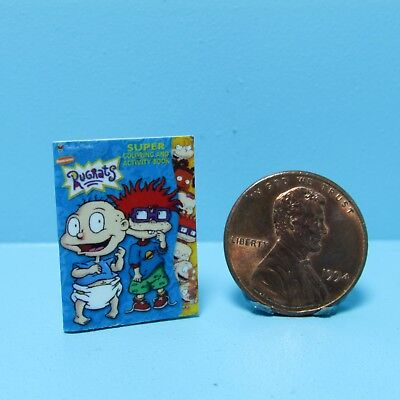 Dollhouse Miniature Replica of Rugrats Coloring and Activity Book ~ B098