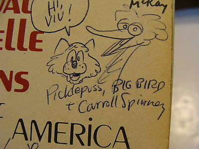 1974  Puppeteers of America Program: Signed & Illus by Carroll Spinney +40 MORE