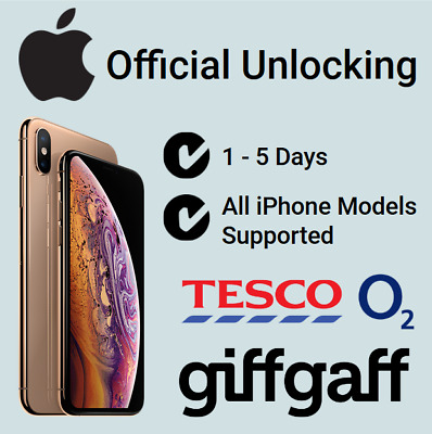 Factory Unlock Service For iPhone 5 5S 5C 6 6+ 6S 6S+ 7 O2 Tesco GiffGaff UK