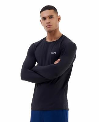 TCA Men's Grid Check Long Sleeve Breathable T-Shirt Running Gym Top