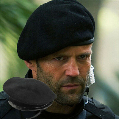 Men Cool Black Wool Military Special Force Army French Artist Hat Cap Beret KU