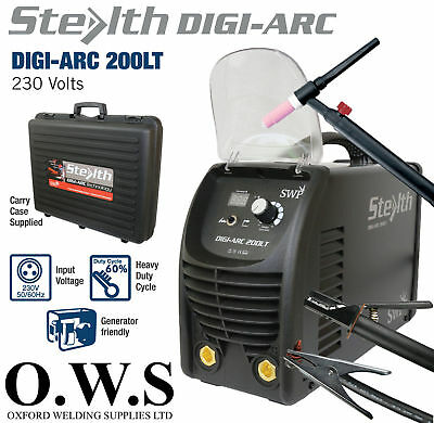 SWP Stealth DIGI-ARC 205LT 200amp Inverter MMA Scratch TIG Welding Machine 230v