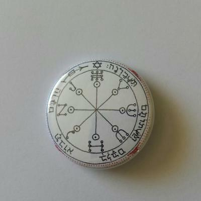 Button Badge Talisman - Sixth Pentacle of Mars - No Harm Seals Of Solomon