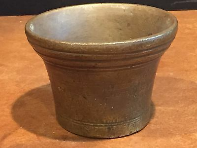 Antique Solid Brass Apothecary Mortar
