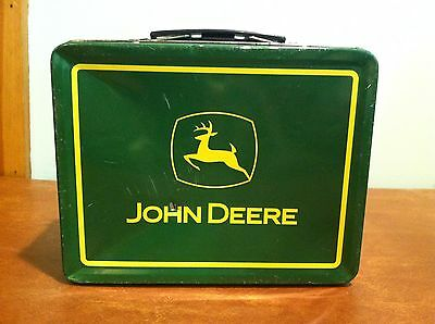 Vintage Metal Tin John Deere Advertising Lunchbox