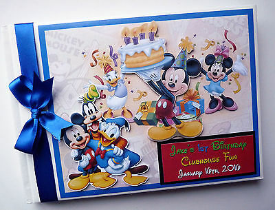 Personalised Disney Clubhouse Mickey/first/1St Birthday Guest Book Any Design