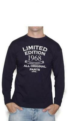 50th Birthday Gift Limited Edition All Original Parts 1968 Long Sleeve T-Shirt