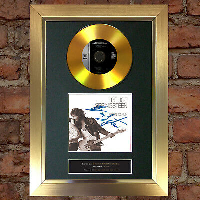 GOLD DISC BRUCE SPRINGSTEEN Signed CD Mounted Repro Autograph Print A4 124