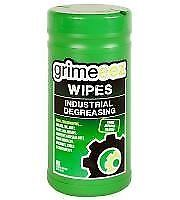 GrimeEez Industrial Degreasing Wipes - 68gsm, 20cm x 20cm x 80 sheets