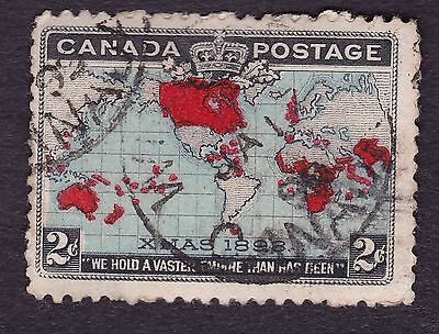 Canada Scott # 86 Imperial Penny Postage Issue 2¢ Map of British Empire used