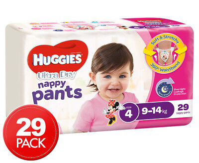 Huggies Nappy Pants For Girls Toddler 9-14kg 29pk