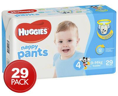 Huggies Nappy Pants For Boys Toddler 9-14kg 29pk