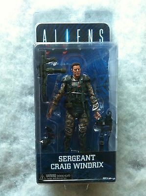 "Aliens Series 2 Sergeant Craig Windrix 7"" Action Figure Neca Colonial Marine New"