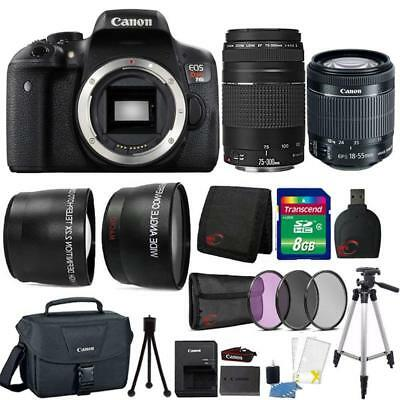 Canon EOS Rebel T6i DSLR Camera w/ 18-55mm Lens , 75-300mm Lens and Accessories