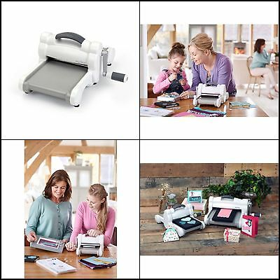 NEWEST Sizzix Big Shot Embossing And Die Cutting Machine White/Gray Scrapbooking