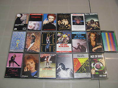 Lot of 19 differents cassettes of Pop Rock, Paula Abdul, Tiffany, Sinead O'Conno