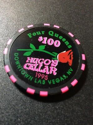 Four Queens $100 Casino Chip- Hugo's Cellar- Mint Condition- Free Shipping