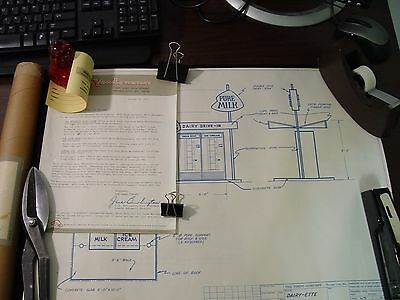 McCALLA DAIRY Ypsilanti Michigan Blueprints Vendo Co for auto dairy store RARE