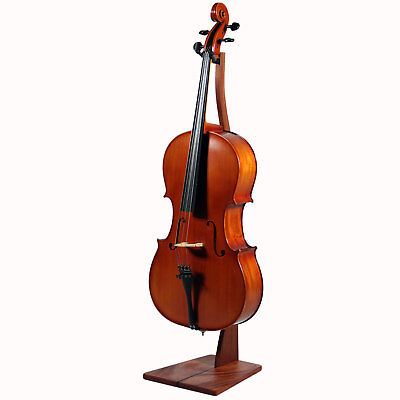 Zither Wooden Cello Stand Mahogany - Handcrafted Premium Hardwood Made in USA