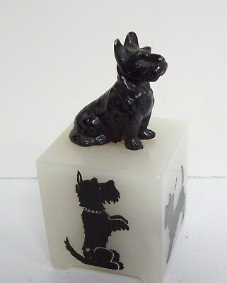 Whimsical Vintage Black SCOTTIE Dog Nightlight Lamp - needs wiring