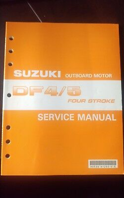 2002 Suzuki DF4/5 DF4 DF5 Four Stroke Outboard Motor Service Repair Manual OEM
