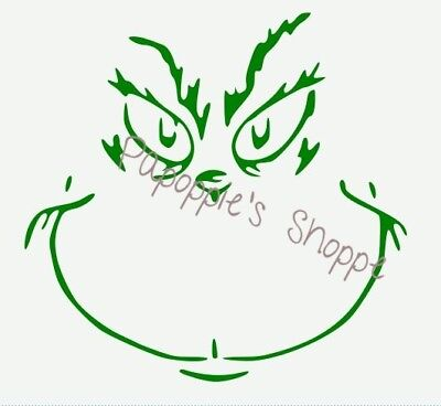 Stencil The Grinch Face Christmas Stencil You Choose Size Free Shipping to U.S.